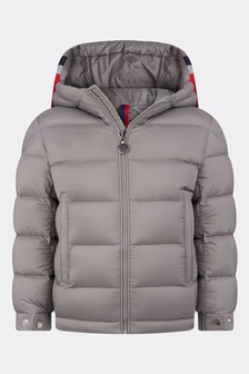Boys Grey Down Padded Sorue Jacket