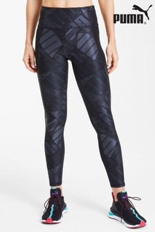 Puma® Black Bold All Over Print 7/8 Leggings