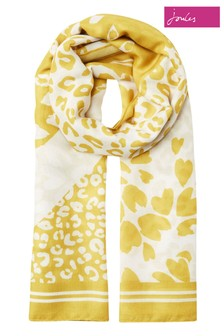 Joules Yellow River Printed Scarf