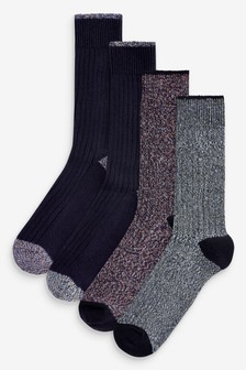 Heavyweight Twist Socks Four Pack