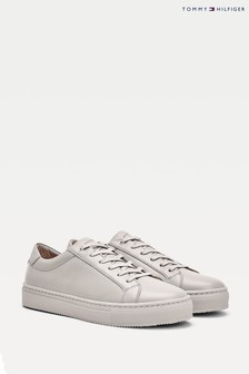 Tommy Hilfiger Green Premium Leather Trainers