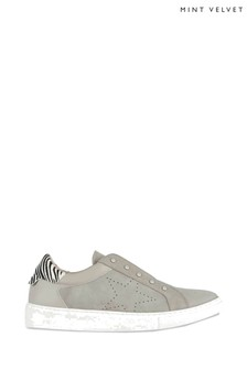 Mint Velvet Josie Grey Star Suede Trainer