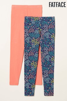 FatFace Blue Bee Meadow Leggings Two Pack