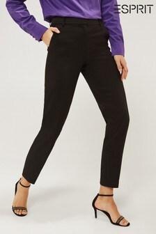 Esprit Black Cropped Cigarette Pants