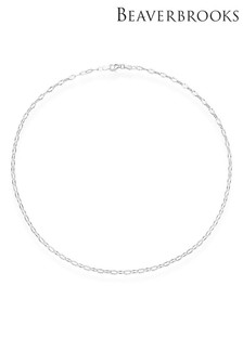 Beaverbrooks Sterling Silver Sunburst Necklace