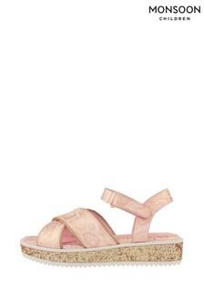 Monsoon Snake Shimmer Glitter Flatform Sandals