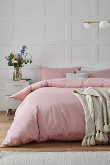Sunbaked Pink Cotton Rich Duvet Cover And Pillowcase Set