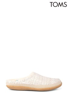 Toms White Ivy Slippers