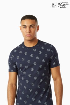 Original Penguin® T-Shirt Featuring All Over Printed Branding