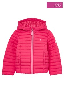 Joules Pink Kinnaird Padded Packable Coat