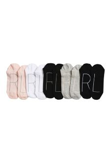 Left/Right Footbed Trainer Socks Five Pack