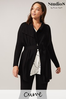 Studio 8 Black Isabella Wrap Cardigan