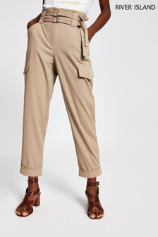 River Island Ecru New Miliana Trousers