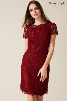 Phase Eight Red Lizzy Embroidered Dress