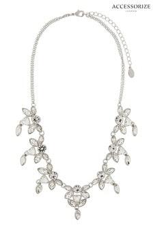 Accessorize Clear New Petunia Collar Necklace