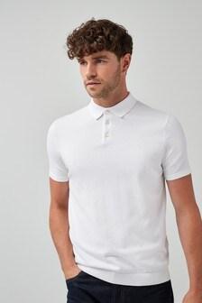 Kurzärmeliges Strick-Poloshirt