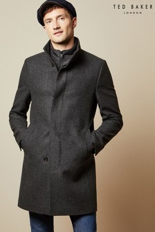 Ted Baker Grey Margate Funnel Neck Coat