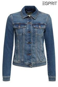 Esprit Blue Waisted Denim Jacket