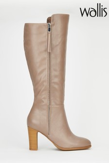 Wallis Harbour Natural Mix Material High Leg Boots