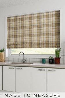 Dalton Check Made To Measure Roman Blind