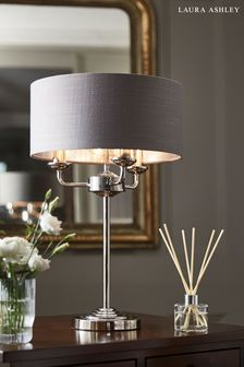 Charcoal Sorrento 3 Light Table Lamp With Shade