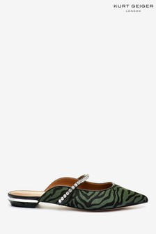 Kurt Geiger London Green Princely 2 Leather Heel Shoes