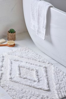 Cosy Tufted  Geo Bath Mat