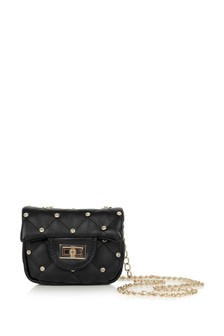 Girls Black Studded Shoulder Bag