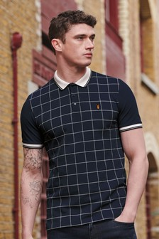 Windowpane Check Polo