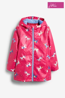 Joules Pink Raindance Rubber Coat
