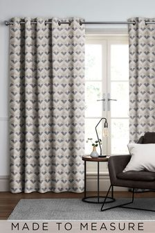 Varese Caramel Natural Made To Measure Curtains