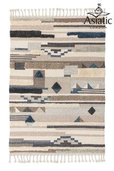 Mandalay Geo Wool High Pile Rug by Asiatic Rugs