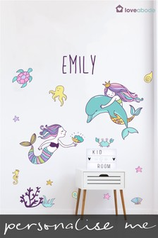 Personalised Mermaid Wall Sticker by Loveabode