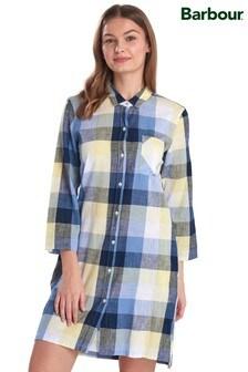 Barbour® Coastal Navy/Yellow Check Promenade Shirt Dress
