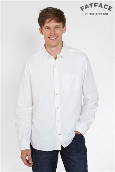 FatFace White Oxford Plain Shirt