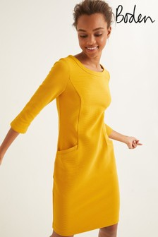 Boden Yellow Jasmine Ottoman Dress