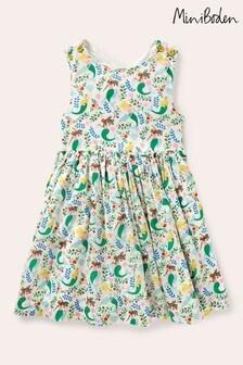 Boden Ivory Cross-Back Dress