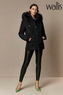 Wallis Black Horizontal Short Padded Jacket