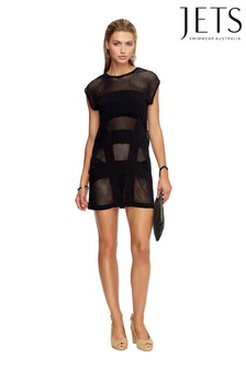 Jets Black Parallels Dress