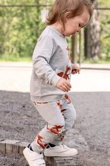 Polarn O. Pyret Grey Organic Cotton Fox Trousers