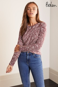 Boden Brown Eldon Cotton Jumper
