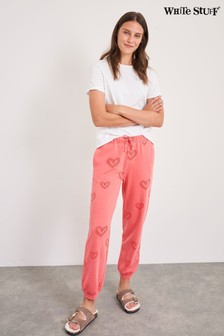 White Stuff Heart Print Joggers