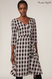 Phase Eight Black Ava Check Dress