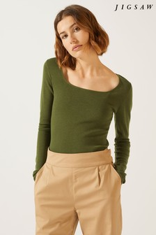 Jigsaw Merino Square Neck Jumper