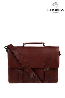 Conkca Scolari Leather Briefcase