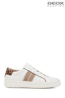 Geox Women's Pontoise White Shoe