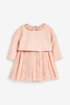 Embroidered Tutu Dress (0mths-2yrs)