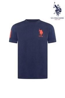 U.S. Polo Assn. Blue Large Double Horsemen T-Shirt