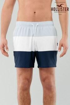 Hollister Blue Colourblock Swim Shorts