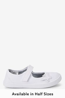 Butterfly Embroidered Plimsolls (Older)